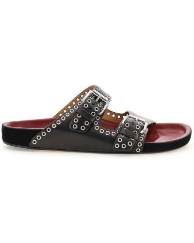 Czarne sandały Isabel Marant