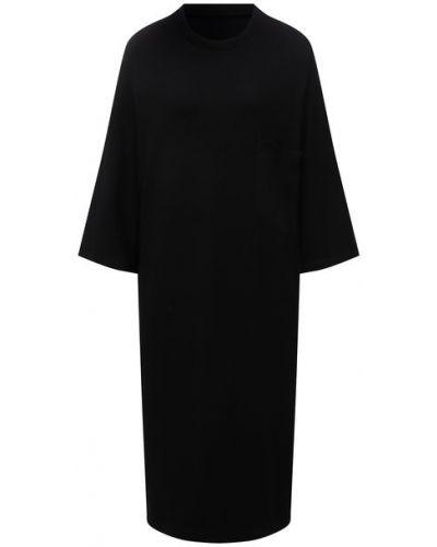 Шерстяное платье - черное Y`s