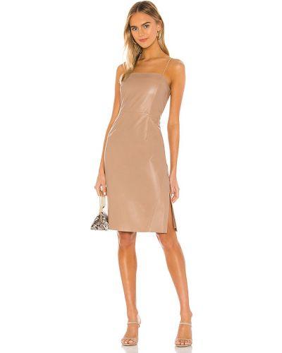 Sukienka mini skórzana miejska Lamarque