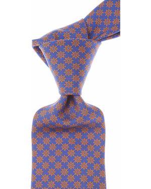 Brązowy krawat z jedwabiu Battistoni