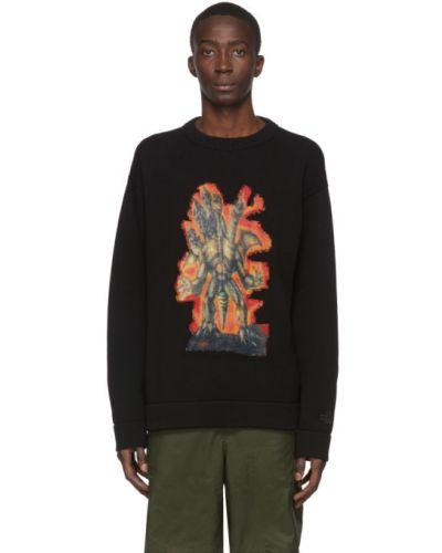 Черный шерстяной длинный свитер с воротником Acne Studios