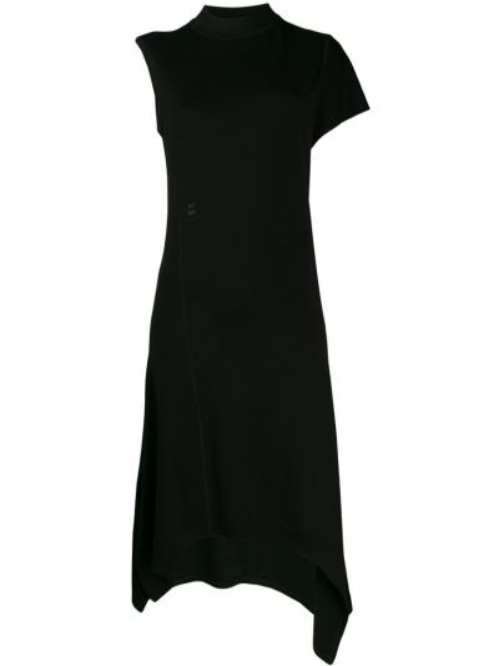 Платье миди расклешенное - черное Alix