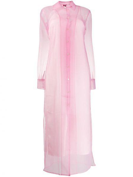 Платье на пуговицах из органзы Staud