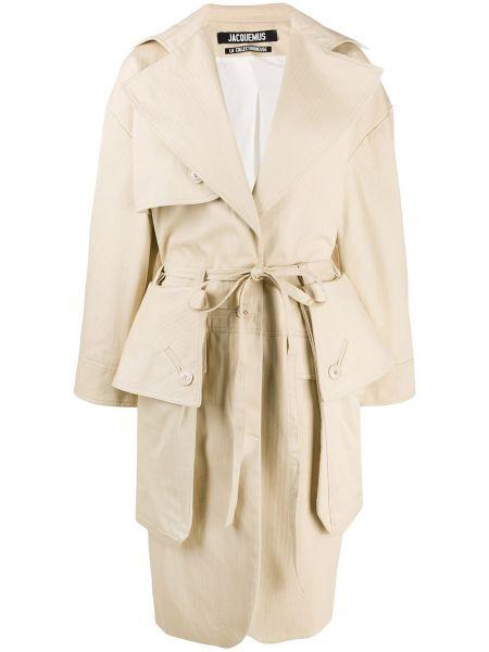 Klasyczny beżowy płaszcz bawełniany Jacquemus