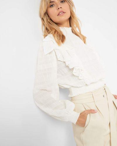 Z rękawami bluzka z falbankami ze stójką Orsay