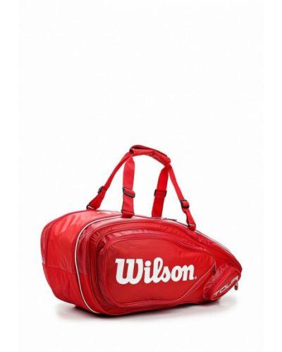 Красная спортивная сумка Wilson