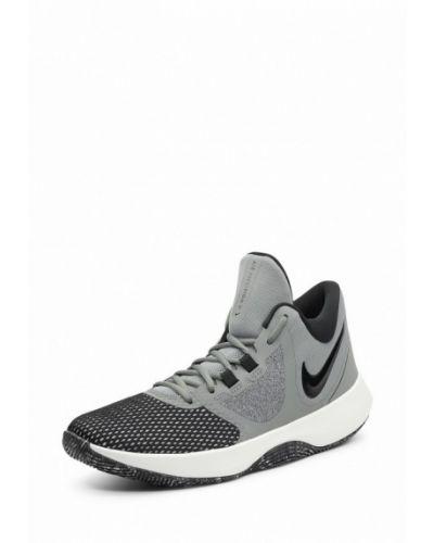 Серые высокие кроссовки Nike