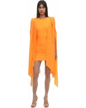 Приталенное платье на молнии с драпировкой из крепа Alex Perry