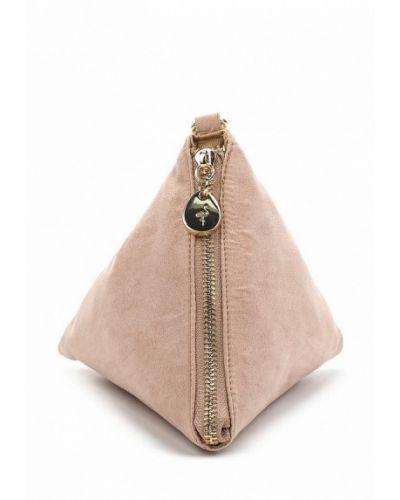 Розовая сумка замшевая Menbur