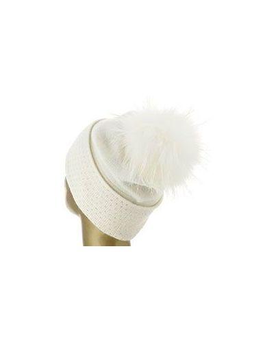 Белая шапка со стразами William Sharp