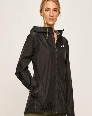 Прямая черная нейлоновая куртка с капюшоном Under Armour
