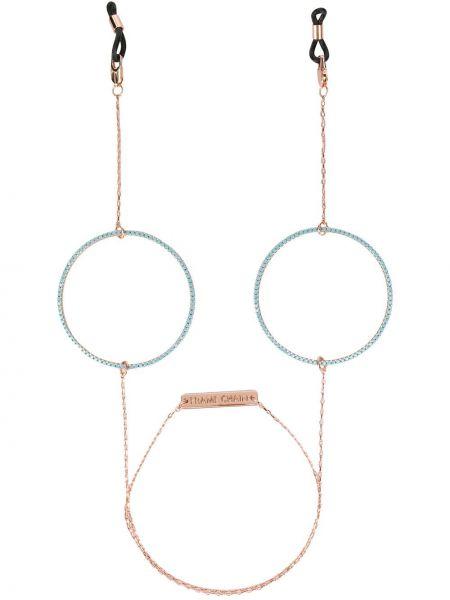 Złote różowe okulary pozłacane Frame Chain