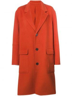 Шерстяное пальто - оранжевое Ami Paris
