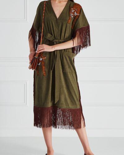 Платье с поясом с бахромой леопардовое KatЯ DobrЯkova