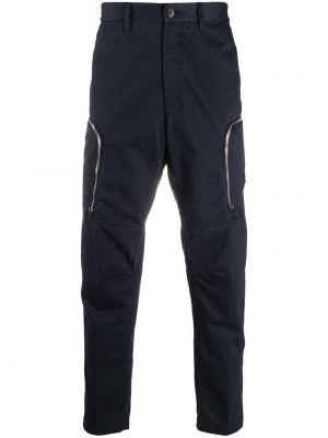 Niebieskie spodnie bawełniane z paskiem Stone Island Shadow Project