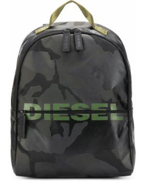 Рюкзак черный с заплатками Diesel Kids