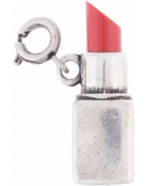 Srebro szminka do ust z ozdobnym wykończeniem matowy metal Ports 1961