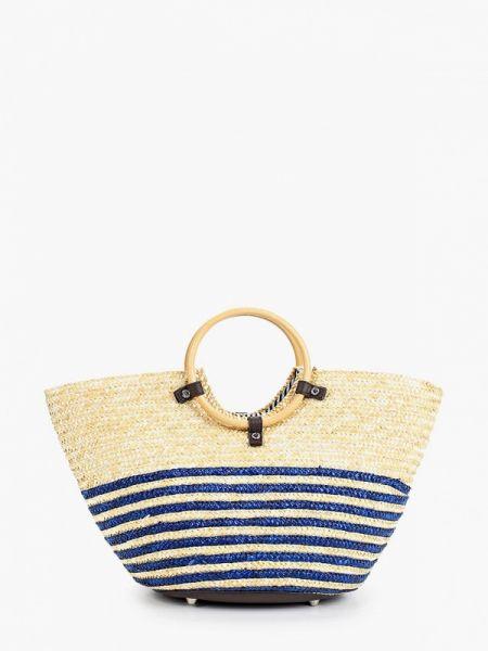 Пляжная сумка соломенная бежевый Esmee