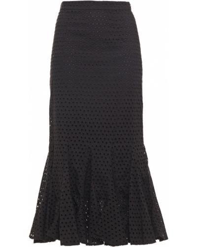 Czarna spódnica midi bawełniana Rhode