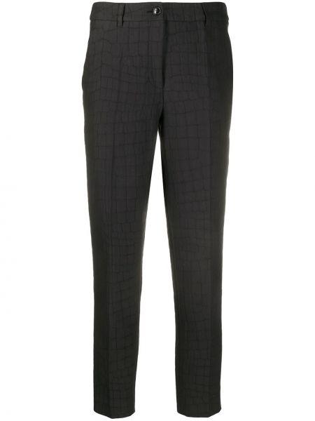 Przycięte spodnie z kieszeniami czarne Boutique Moschino