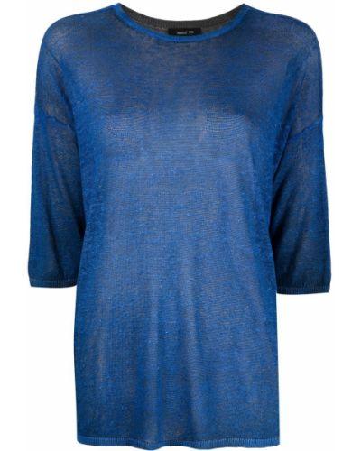 Синий джемпер с вырезом круглый Avant Toi