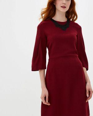 Повседневное платье бордовый красный мадам т