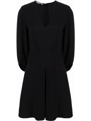 Платье с V-образным вырезом - черное Stella Mccartney