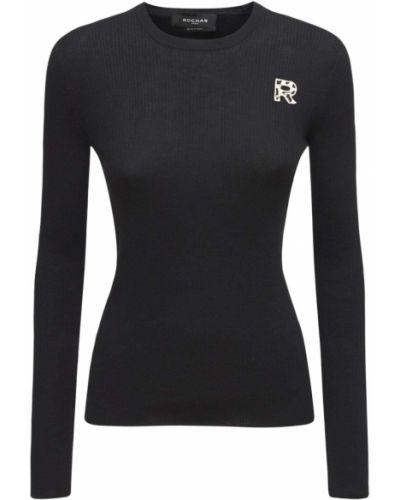 Шерстяной свитер - черный Rochas