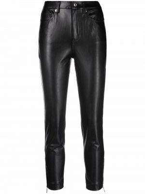 Кожаные брюки - черные Michael Kors