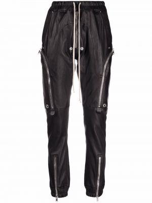 Черные кожаные брюки Rick Owens Drkshdw