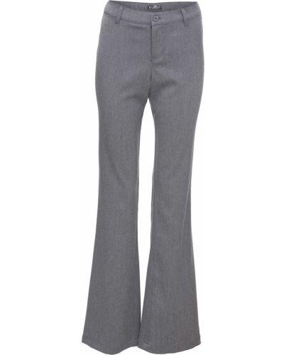 Свободные брюки серые расклешенные Bonprix