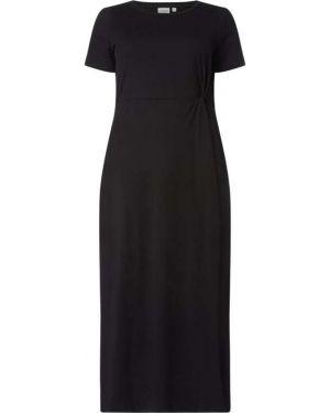 Czarna sukienka mini rozkloszowana krótki rękaw Junarose