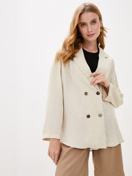 Боди-блуза бежевая блузка осенняя B.style