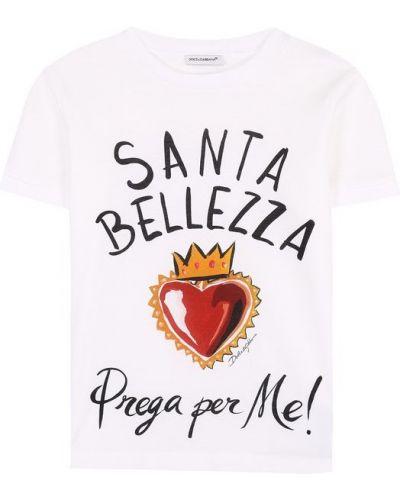 Футболка прямая хлопковая Dolce & Gabbana