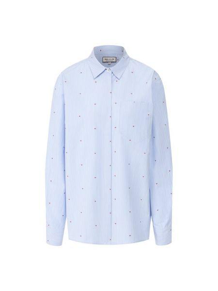 Хлопковая синяя рубашка Paul&joe