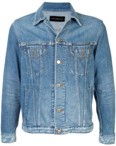 Классическая синяя джинсовая куртка прозрачная Roarguns