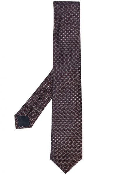 Krawat z jedwabiu - fioletowy Corneliani