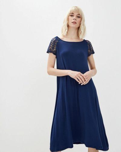 Повседневное платье весеннее синее Iwie