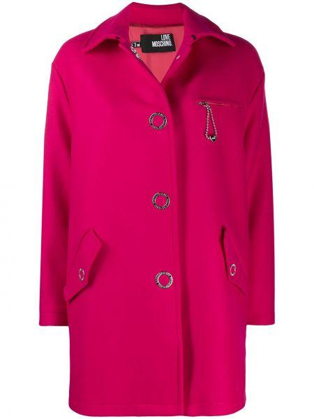 Пальто классическое с воротником пальто Love Moschino