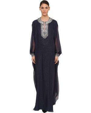 Платье с разрезами по бокам с V-образным вырезом Azzaro