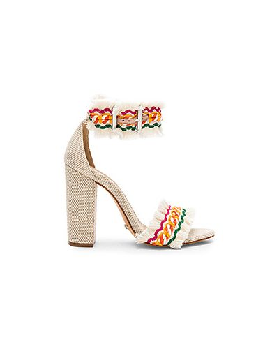 Туфли на каблуке плетеные с пряжкой Schutz