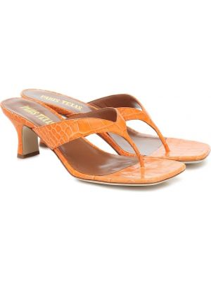 Кожаные желтые туфли Paris Texas