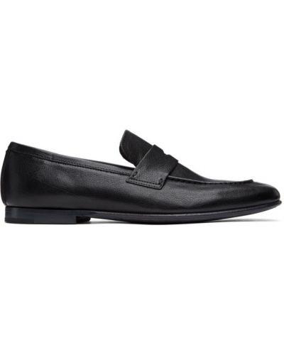 Czarny z paskiem zamsz loafers kaskada Dunhill