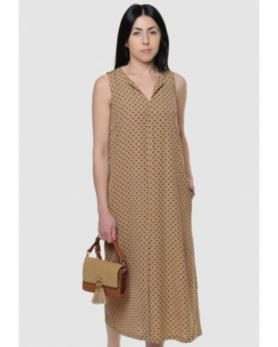 Легкое платье - бежевое Arber