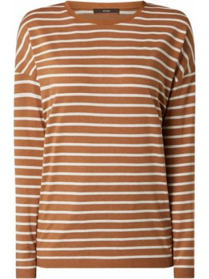 Brązowa bluzka w paski bawełniana Windsor