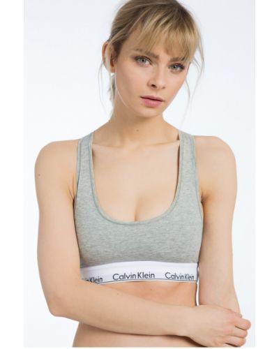 Серый спортивный бюстгальтер на бретелях Calvin Klein Underwear