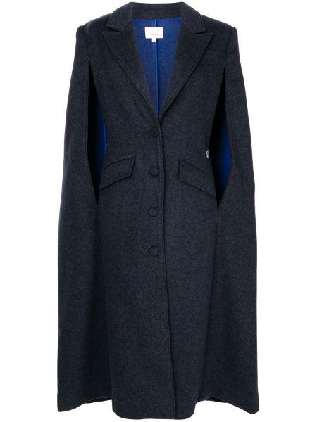 Серое шерстяное пальто классическое без рукавов Cinq A Sept