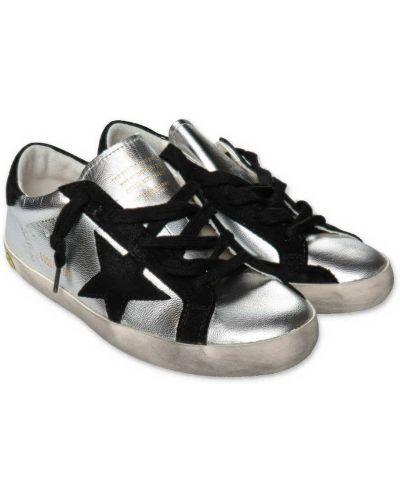 Szare buty sportowe skorzane Golden Goose