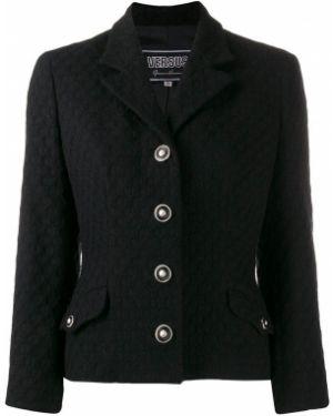 Черный пиджак на пуговицах Versus Pre-owned