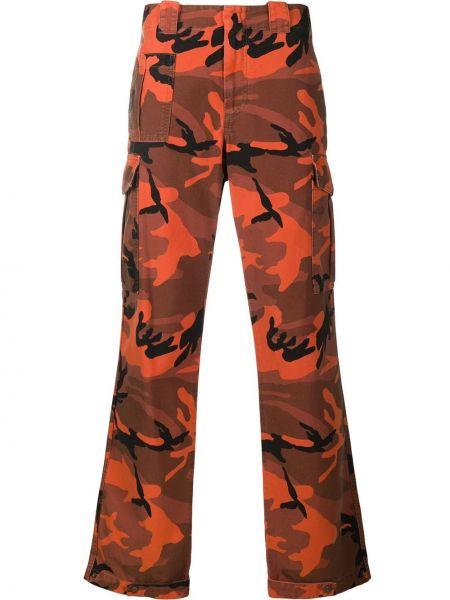 Spodnie z wysokim stanem - pomarańczowe Mcq Alexander Mcqueen